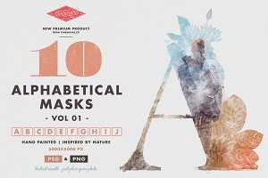 10 Alphabetical Masks Vol 01