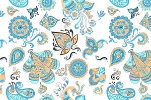 Colored Indian vintage floral seamle