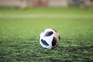 Traditional soccer ball on soccer