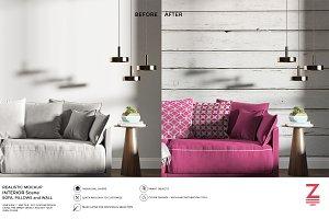 Wall & Pillows Mockup Interior SM2