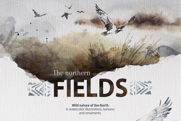 "Illustrations and Illustration Products - ""The Northern Fields"" Collection"