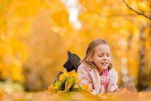 Portrait of adorable little girl wit