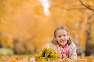 Portrait of adorable little girl wit