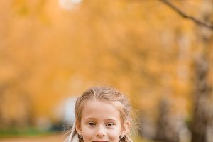 Portrait of adorable little girl out
