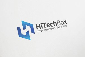 HiTech Box Logo Template