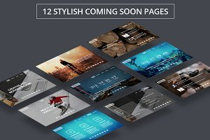 Amaros - 12 Coming Soon HTML Pages