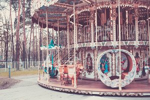 vintage flying horse carousel