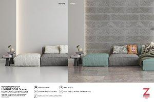 Floor & Wall Mockup Livingroom SM6