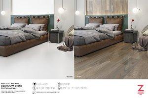 Floor & Wall Mockup Bedroom SM7