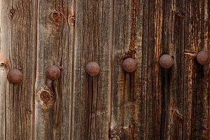 Rusty wooden door