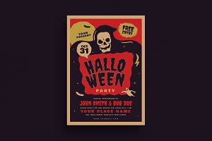 Retro Old Halloween Event Flyer