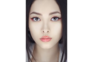 Asian beauty woman with creative