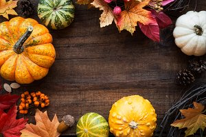 Autumn or fall banner or frame
