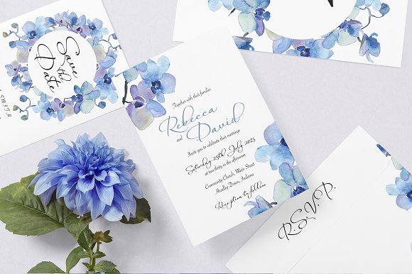 Wedding Invitation Suite - Rebecca in Wedding Templates - product preview 4