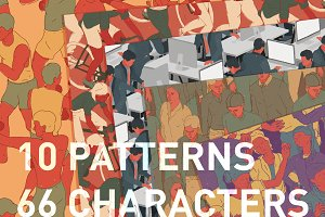 10 Seamless People Pattern