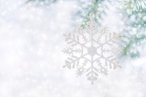 Christmas background, snowflake