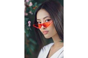 Asian woman fashion close-up