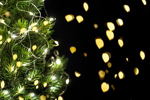 Christmas tree lights decoration