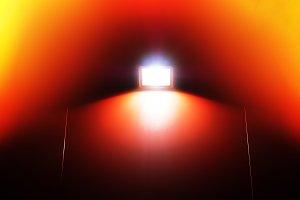 Retro night illumination light leak