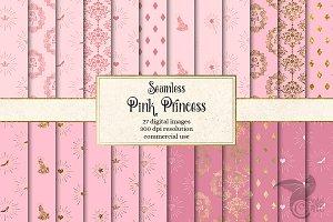 Pink Princess Digital Paper