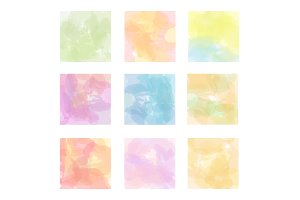 Set vector watercolor backgrounds