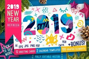 2019 New Year Christmas White Bundle