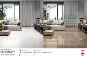 Floor Mockup Livingroom Scene SM11