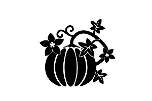 Cartoon pumpkin thanksgiving day