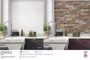 Wall Mockup Kitchen Scene SM12