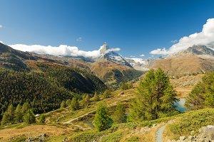 Scenery summer view on Matterhorn