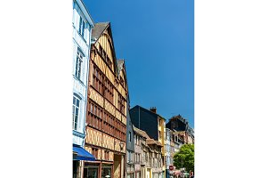 Traditional half-timbered houses in