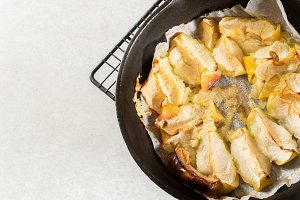 Stewed Apple with Cinnamon, baked in