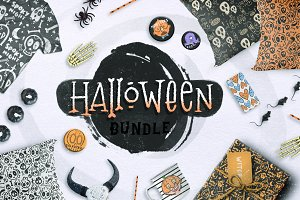 Halloween BUNDLE + 150 ELEMENTS!