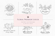Floral Premade Logos by  in Logos