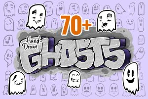 70+ Hand-Drawn Vector Ghosts