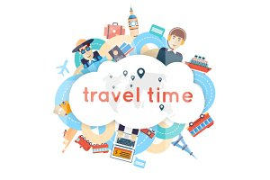 World Travel. Summer vacations.