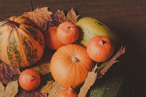 Orange pumpkins, still life