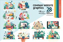 Company website vector Illustrations by  in Web Elements