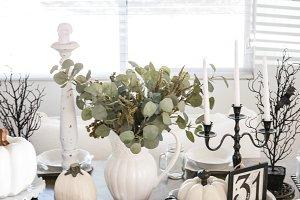 Fall/ Halloween Table - Stock Photos