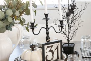 Fall/ Halloween Table - Stock Photos