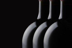 Low Key Wine Bottle Still Life