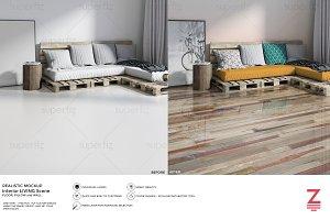 Floor&Wall Mockup Interior SceneSM17