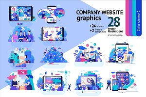 Company website vector Illustrations