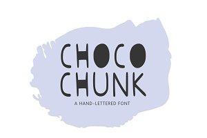 Choco Chunk, A Hand-Lettered Font