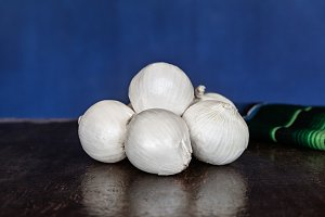 White Onions On Vintage Table