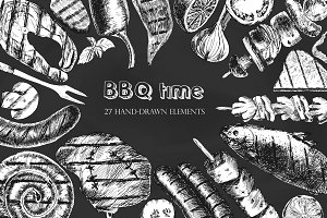 Barbeque time / graphic set