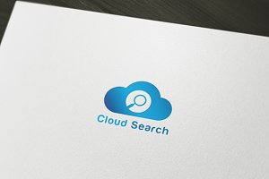 Cloud Search Logo Template