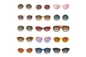 Sunglasses vector cartoon eyeglasses