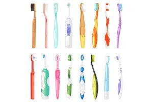 Toothbrushe vector dental hygiene