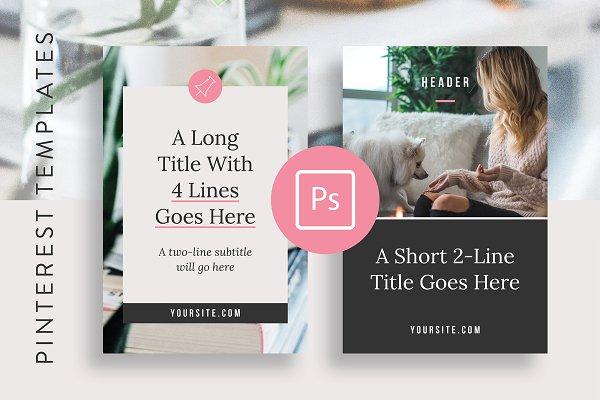 Pinterest Templates: Basil & Bark - Pinterest Optimized Templates Adobe